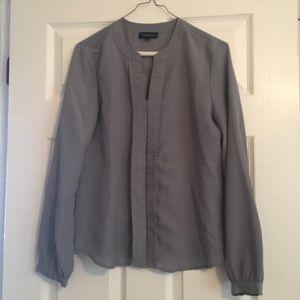 Grey long sleeve blouse. Size S